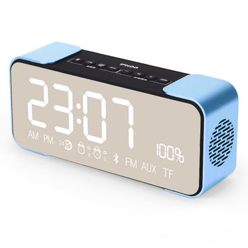 c59d3e87099 IFKOO Q8 Smart Bluetooth Speakers Mobile Phone Alarm Clock Time Display  Format FM Radio