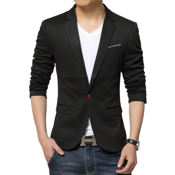 d8f316aee86 Get Quotations · One Button Men Small Suit Jackets Solid Color Size L-3XL  Cheap Male Cotton Jackets