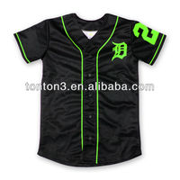new designs men's blank baseball jersey