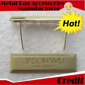 Cheap zinc alloy logo for handbags travel metal plain with high quality bag purse hook handbag hanger holder
