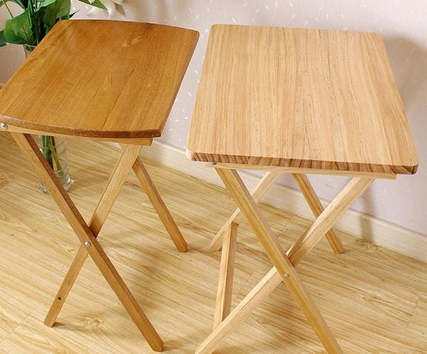 Mesas plegables de madera para comedor stunning madera for Mesas de comedor plegables