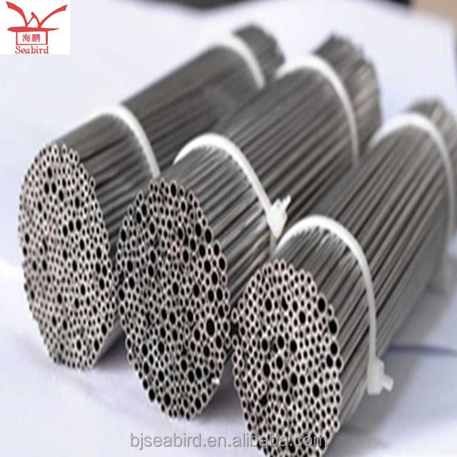 New products on china market shape memory alloy SMA Niti pipes medical grade nitinol tube