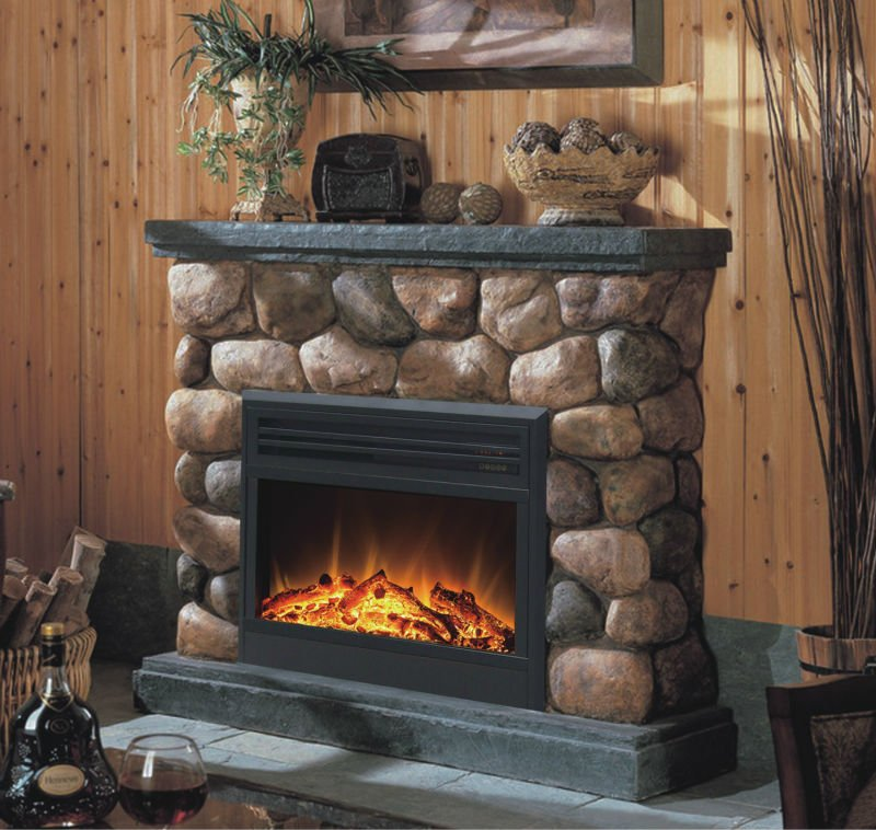 cottage faux electric fireplace heater