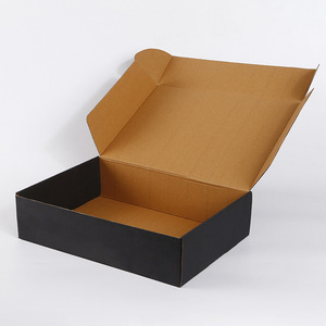 Custom hot stamping gold logo cardboard folding corrugated kraft drop-front shoes paper box