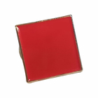 New products high quality custom red square gifts plating gold soft enamel pin