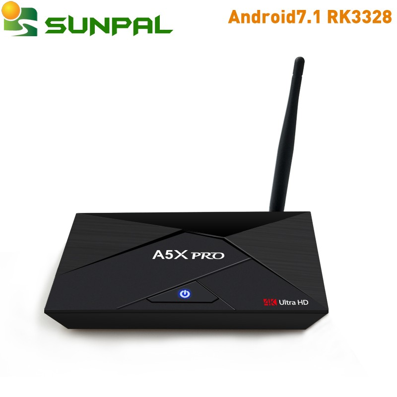 A5x pro <strong>TV</strong> <strong>BOX</strong> <strong>Android</strong> 7.1 RK3328 Quad Core 2GB/16GB 2.4G 5G Dual Wifi Ultra HD 4K H.265