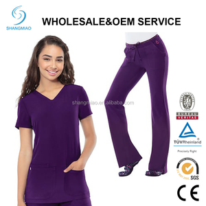 High quality Fashion design comfortable medical scrubs/ OEM nurse uniforms made in China