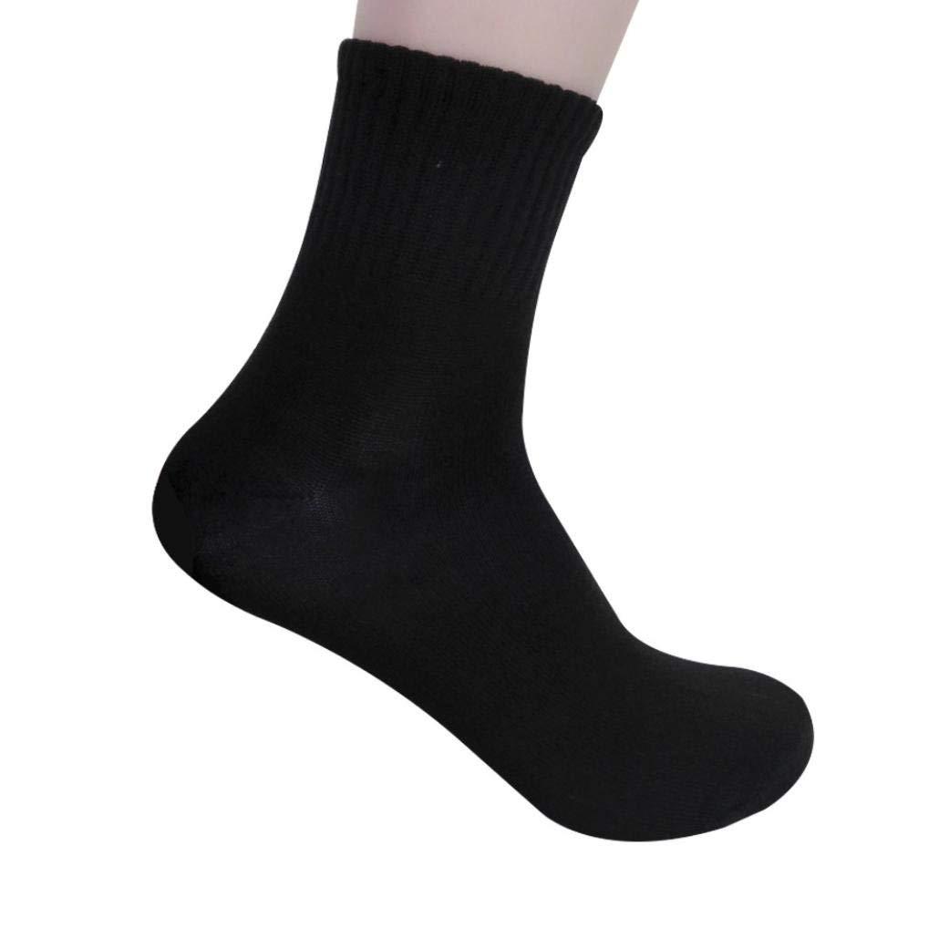 Hot Sale!Mens Business Cotton Socks ,BeautyVan Fashion Mens Business Cotton Socks Casual Gray Black White Socks (Black)