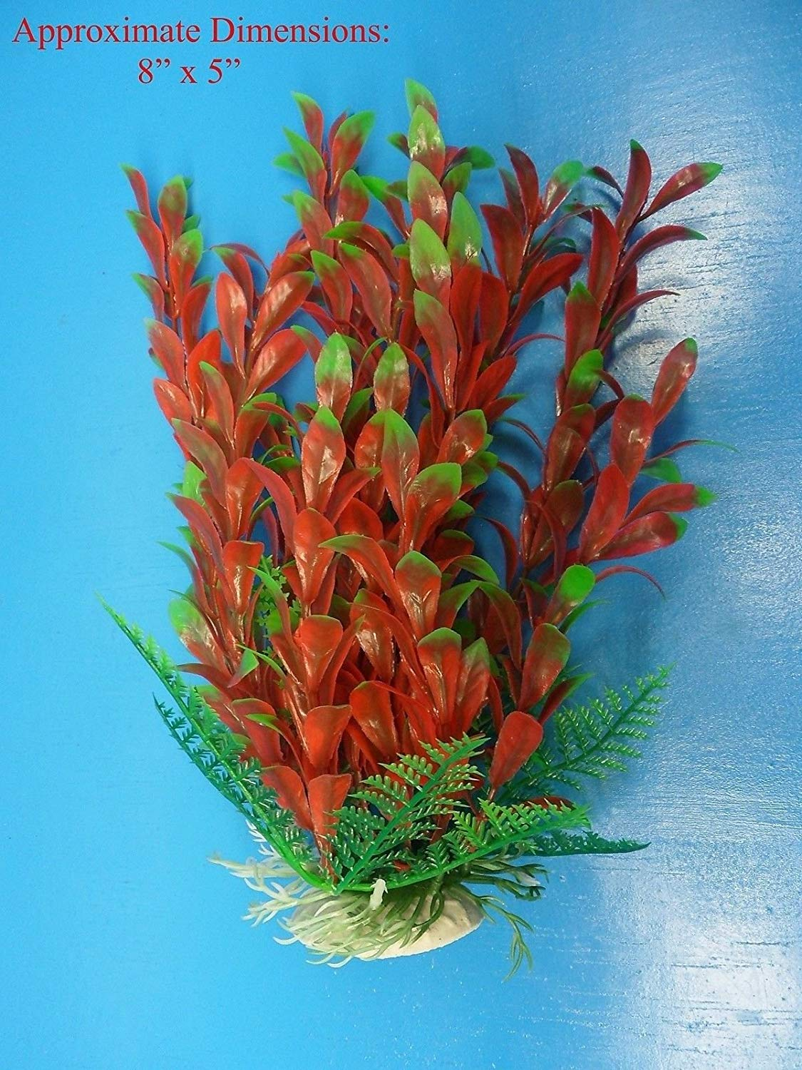 Azaina_atl AQUARIUM DECORATION - PLASTIC PLANT W HEAVY BASE 34251