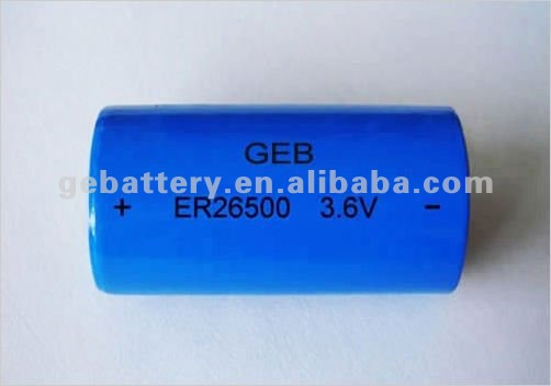 3.6 V 9000 mAh (LS26500 and ER26500) Primary Lithium Battery