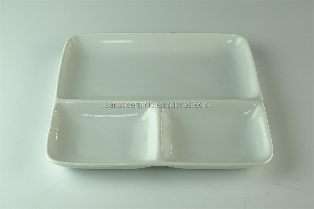 Catering Divided White Ceramic Wholesale Dinner Plate For Restaurant - Buy Ceramic Divided PlateWhite Catering PlateCheap Ceramic Plate In Stock Product ... & Catering Divided White Ceramic Wholesale Dinner Plate For Restaurant ...