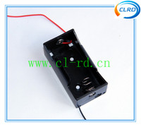D cell battery holder with lead wire