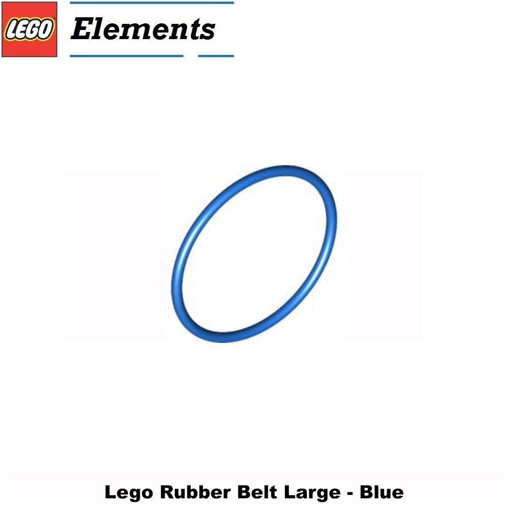 Lego Parts: Rubber Belt Large (Round Cross Section) - 4 x 4 (Blue)