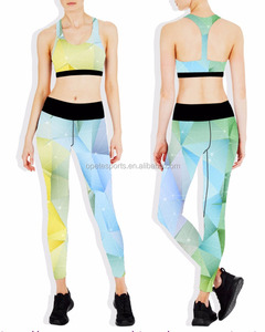 (Trade Assurance) Directly Wholesale Print tight yoga /Yoga pants sets/Sports Running Girls Slim Leggings+Tops Women Yoga Sets