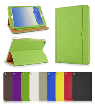 Tan Leather Wallet Smart Flip Magnetic Case Cover for iPad 2 3 4