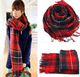 Lady Wool Tartan Check Plaid Scarf Wrap Stole Pashmina Shawl Neck muffler