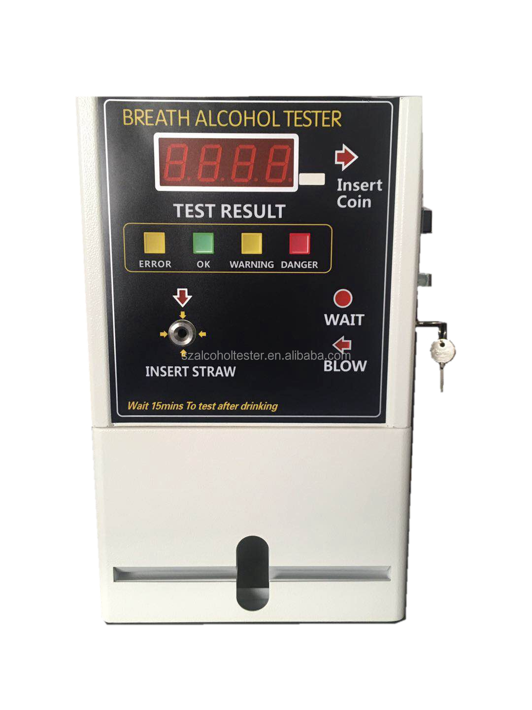 AT319 Coin-operated breathalyzer Fuel Cell Sensor Alcohol Breath Tester safety drive