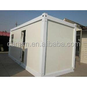 Welded Waterproof Steel Blue and White Prefab Container House