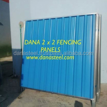 Single Skin Corrugated Fence Panel for Construction Site Dubai Ajman  Sharjah Abu Dhabi, View corrugated metal fence panels, Product Details from  DANA