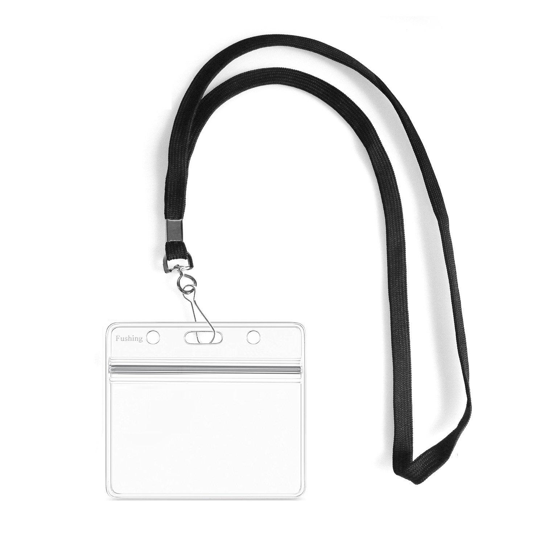 school badge strap black vertical neck SS Office
