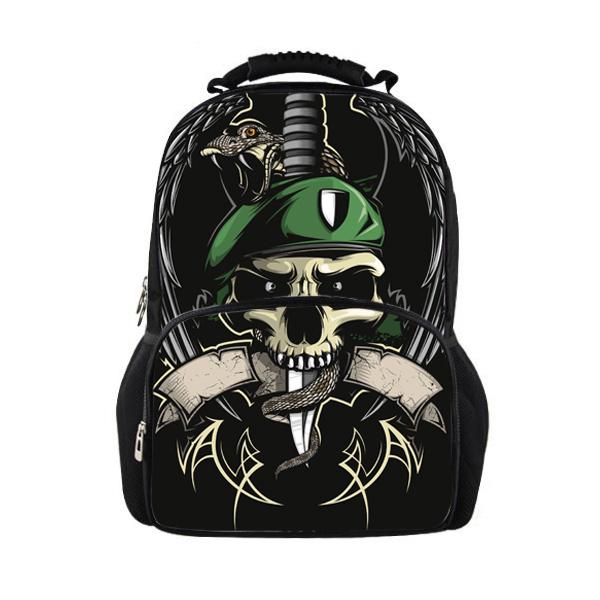e75af1a1d28 Get Quotations · 2014 New Design Black Skull Backpack for Children Cool Skeleton  Kids School Backpacks Men Skull Bag