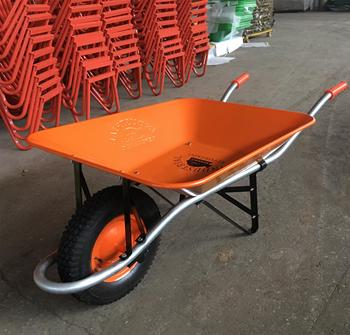 Orange color Carretilla reforzada tools for Bolivia wheelbarrow wb2700
