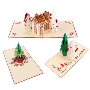 Oempromo handmade custom paper 3d pop up christmas cards