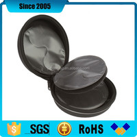 black round eva dvd cd storage case with sleeves