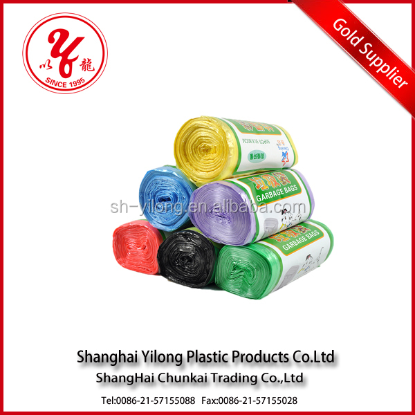 Wholesale cheap price custom printed High quality hdPE/ldPE trash bag bin liner on roll