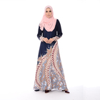 Fashion Islamic Clothing Popular Muslim Dress Soft Elegant Baju Kurung Print Malaysia Dress Dubai Abaya