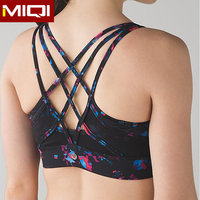 OEM service breathable wicking yoga clothing women sublimated sports bra