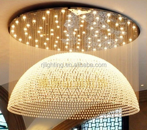 Hotel shopping mall decorative lighting dome light project crystal chandelier modern ceiling light
