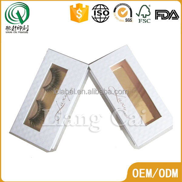 Custom false eyelash packaging box art paper packaging for eyelash