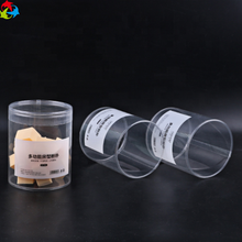 Transparent Portable Plastic Mini Puff Cylinder Packaging Box