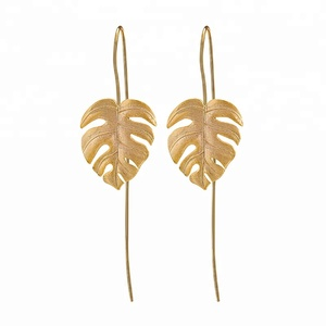 Custom design gold plated jewelry Gold earrings