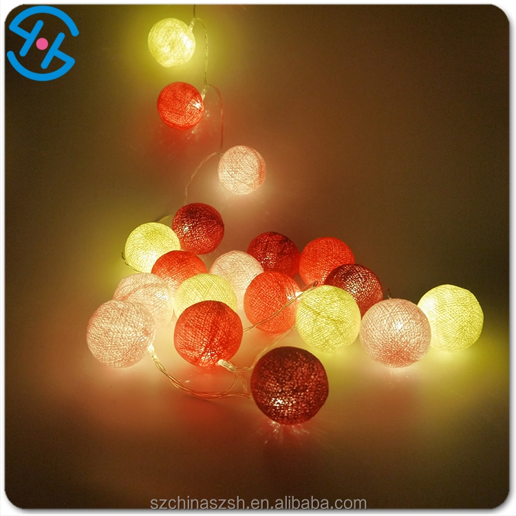SHH cotton ball string home /holiday /christmas decoration led light