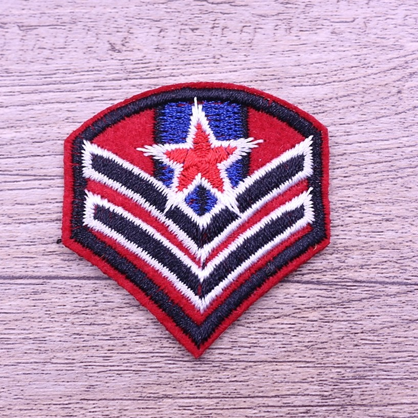 China directly factory produce custom embroidery shoulder badge