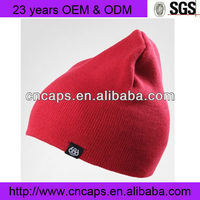 Pure red winter baby hat
