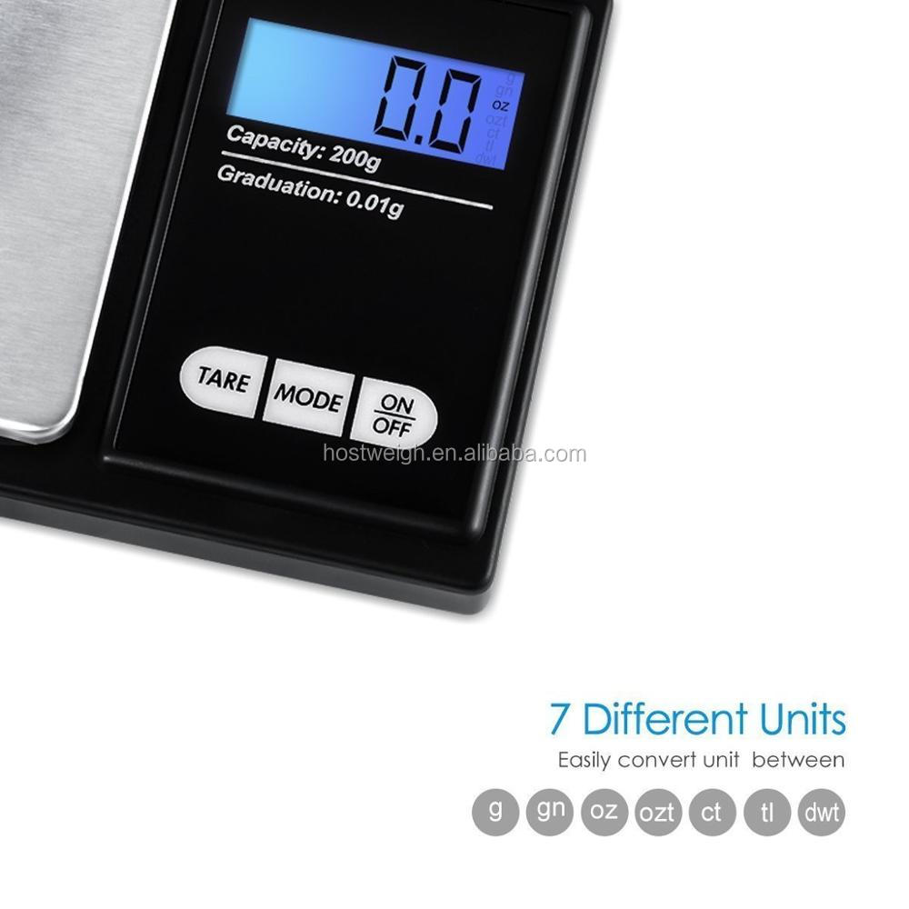 500g x 0.01g Digital Precision Scales for Gold Jewelry Scale 0.01 Pocket