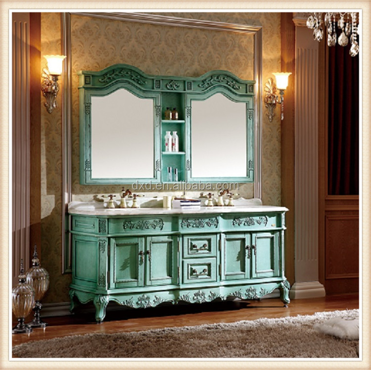 70 Inch Double Sinks Antique Bathroom Vanity Combo With Quartz Countertop