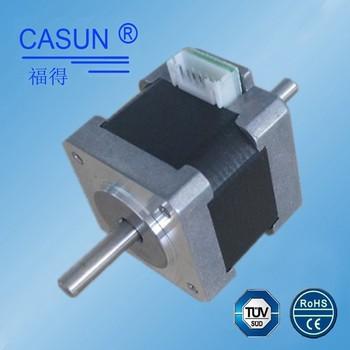 Nema 14 double shaft stepper motor dual shaft 150mn m 0 for Double shaft stepper motor