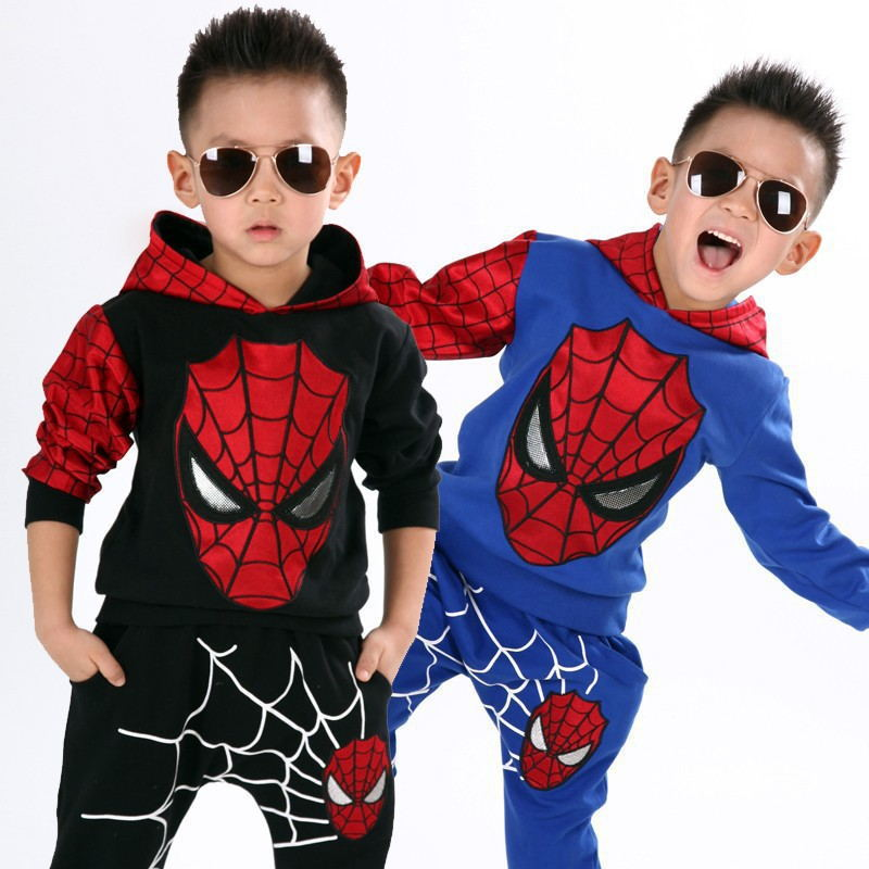2d11d2371 Wholesale hoodie korean cotton spiderman sweatshirt activewear cheap  sportswear online boys fashion clothes sports clothing