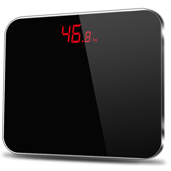 J&R 180 KG Electronic Body Weighing Machine Battery Hidden LED Indication Function Digital Bathroom Weight Scale