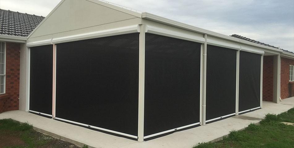 Exterior Aluminium Solar Shades Electric Roller Shutters