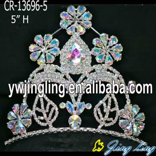 تيجان ملكية  امبراطورية فاخرة Flower-fleur-de-lis-AB-stone-pageant