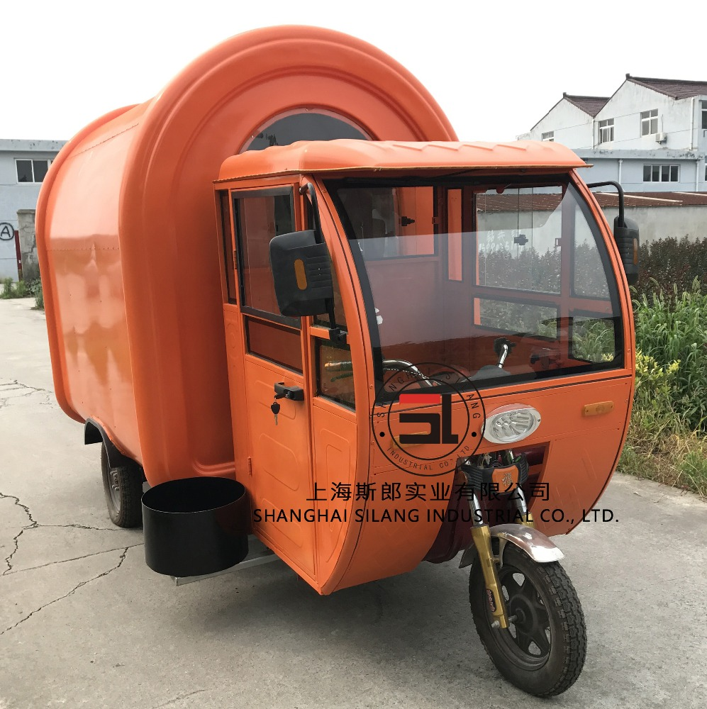 Electric tricycle food cart vending mobile food cart/Hot dog vending truck