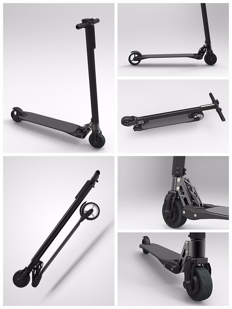 2016 The Lightest Two Wheel Carbon Fiber electrical Scooter hoverboard Skateboard electric Kick Scooter E Bike