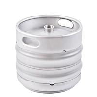 Popular AISI 304 or 316 Food grade stainless steel container drum draft empty Euro beer keg 30L barrel