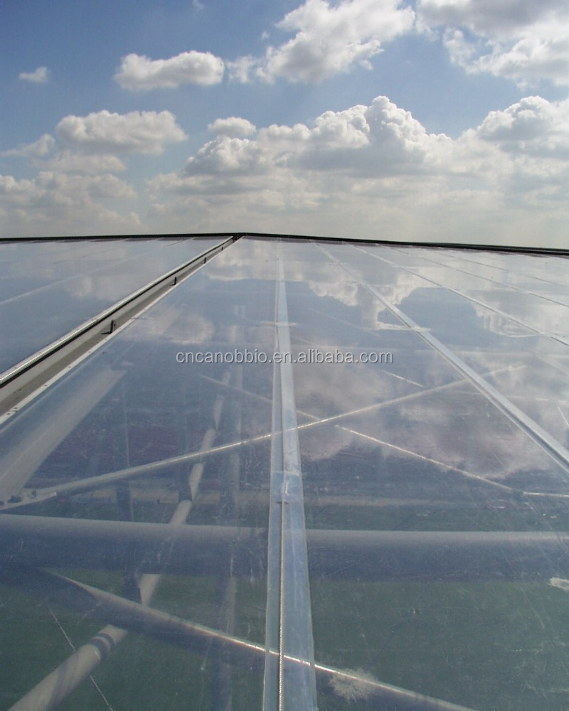 Clear Etfe Coated Film Tensile Fabric Architecture Roof And ...