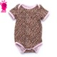 Wholesale new coming leopard cute baby kids romper